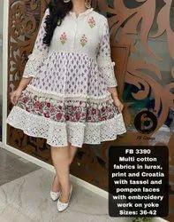 White Cotton Middi Dress