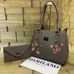 Handbags Pu Leather Handbag 2 PS Set, For Office, 1