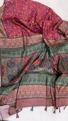 Ajrakh Silk Saree