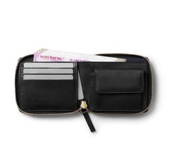 Customizable Round Zipped Leather Wallet