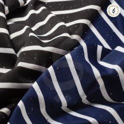 For Girls Wear Black ITY Print Lining Fabric