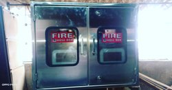 SS Double Door Fire Hose Box