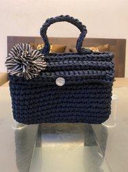 Handmade Ladies Hand Bag With Swarovski Stone