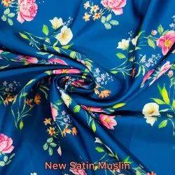 New Satin Muslin Digital Printed Fabric