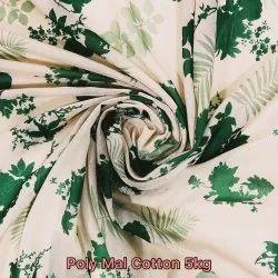 Poly Mal Cotton Digital Printed Fabric