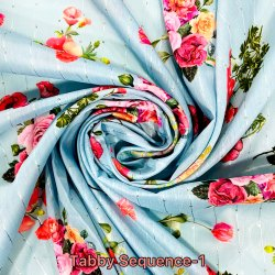 Tabby Sequence Digital Printed Fabric