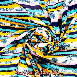 Poly Mal Cotton 8Kg Digital Printed Fabric