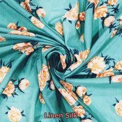 Linen Silk Digital Printed Fabric