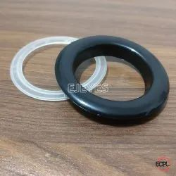 40mm Plastic Curtain Eyelets & Washers Black