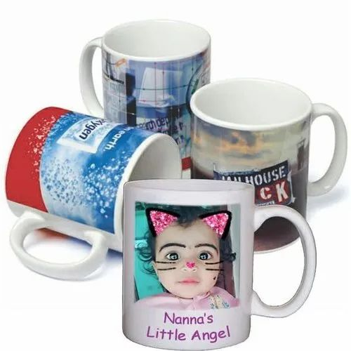 Plus Digital Media Caremic Corporate Gift Printed Mugs, For Promotional
