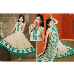 Cotton Sleeveless Long Anarkali Suit