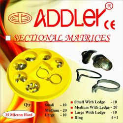 Dental Sectional Matrices (80pcs With 2 Rings) Addler