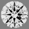 0.51ct Lab Grown Diamond CVD G VVS1 Round Brilliant Cut  HRD Certified Stone