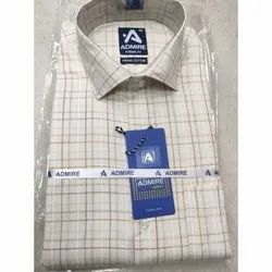 Admire Cotton Mens Checked Formal Shirt, Packaging Type: Packet, Size: 40