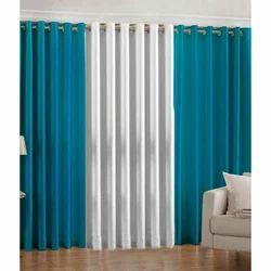 Plain Plain Polyester Curtain, Size: 7*4 Feet