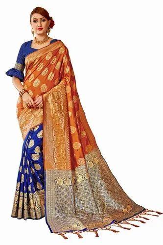 Banarasi Silk Weaving Party Wear Traditional Wedding Wear Saree