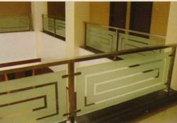 Building Glass And Steel Railing