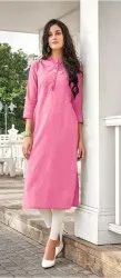 Ladies Cotton Plain Kurti