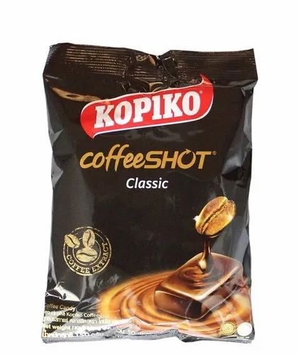 12 Months Kopiko Coffee Shot Candy, 150g, Packaging Type: Packet