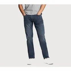 Printed Cotton Men Faded Denim Jeans, Waist Size: 28- 40