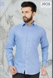 Mafatlal Premium Shirt (Sky Blue Chembrey)
