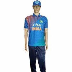 Men's Blue Printed T-shirt
