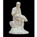 Sai Baba Mate White Shade Statue