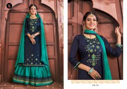 Kalarang Blossom Vol 9 Jam Silk Cotton Lehanga Style Salwar Suit Collection