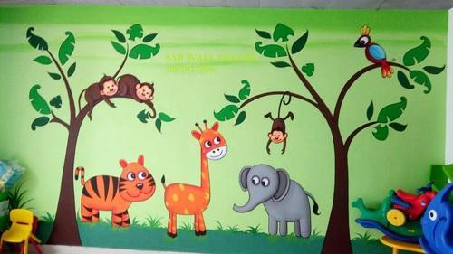 School Outdoor Painting Service In Kukatpally Hyderabad Sar Wall