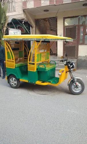 Electric Rickshaw, Yes, Seating Capacity: 5