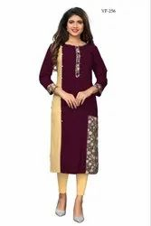 Party Wear Rayon Kurtis