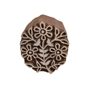 Floral Pattern Wooden Henna Printing Blocks