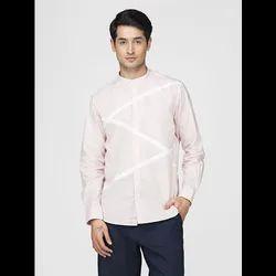 Green Hill Men's Designer Light Pink Shirt