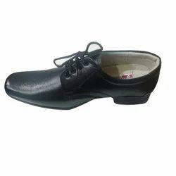 Black Men PU Sole Shoes, Size: 8