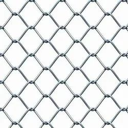 Silver Galvanized Chain Link Fencing, 2x2