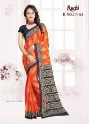 Ruchi Super Kesar Chiffon Poster 17 Printed Chiffon Saree