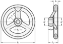 Din 950 Hand Wheels