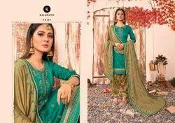 Shagun Vol 6 By Kalarang Jam Silk Cotton With Work Salwar Kameez
