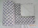 Ikkat Block Print Handmade Kantha Quilt