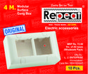 Rabbit & Repeat Rectangular 4 Modular Pvc Concealed Box, For Electric Fitting