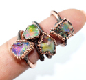 Natural Raw Opal Gemstone Ring