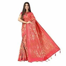 1855 Ladies Exclusive Jacquard Silk Saree