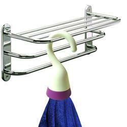 Kawachi Plastic Towel Hook Organizer for Bathroom