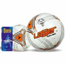 Laser Black And White Soccer Ball