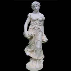 White Marble Decorative Lady Statue