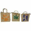 Printed Jute Lunch Box Bag
