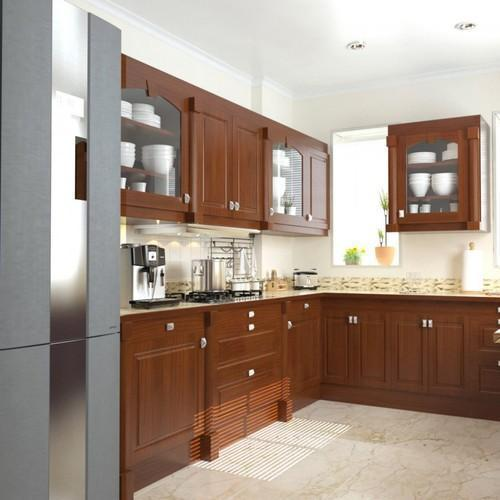 L Shaped Modular Kitchen, Modular Kitchen
