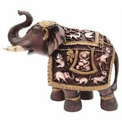 Fiber Decorative Elephant Statue, Size/Dimension: 18cm X 21cm X 8cm