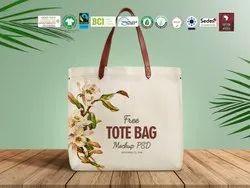 Natural Recycle Organic Cotton Shopping Bag