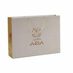 Printed Rope Handle Designer Art Paper Bag, For Shopping, Capacity: 2-5 Kg